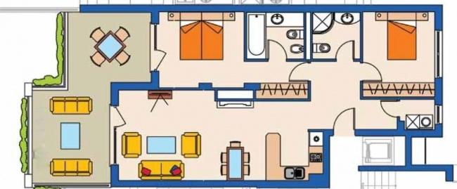 3-Zimmer-Wohnung in Kaliakria-Komplex