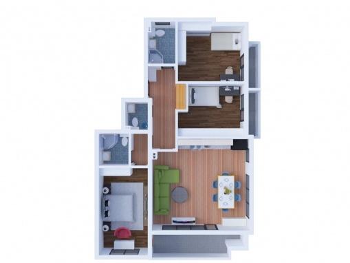 Жилище с три спални в нова луксозна сграда в Сливен