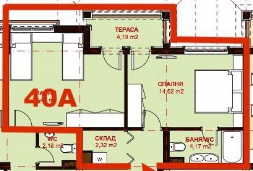 Обзаведен апартамент в к-с Олимп - Влас