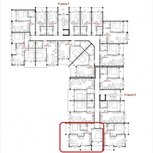 Тристаен апартамент в СПА комплекс в Св. Влас